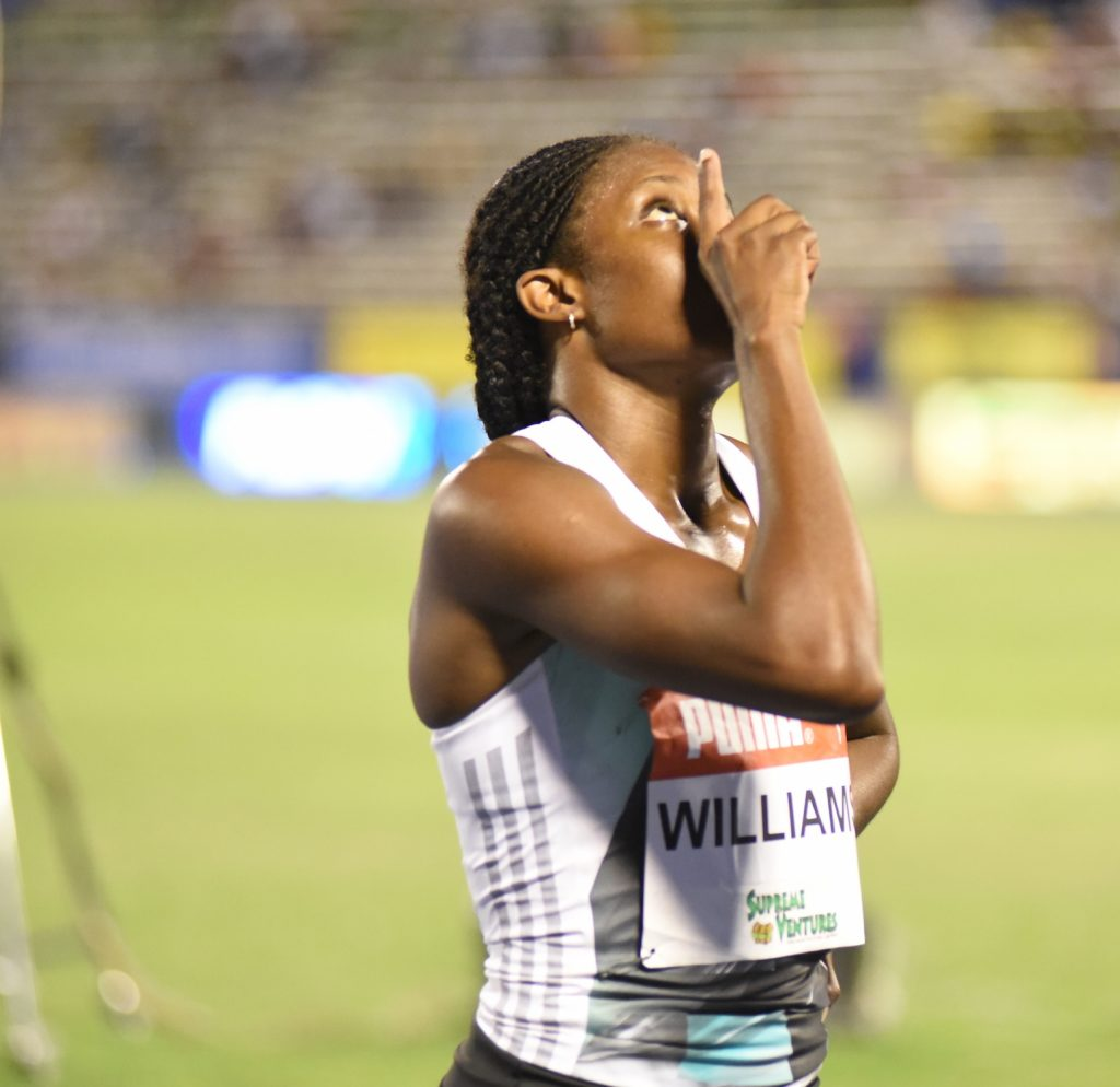 Danielle Williams and Yohan Blake were Jamaican winners at at the American Track League 2021