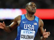 Christian Coleman wins US Trials