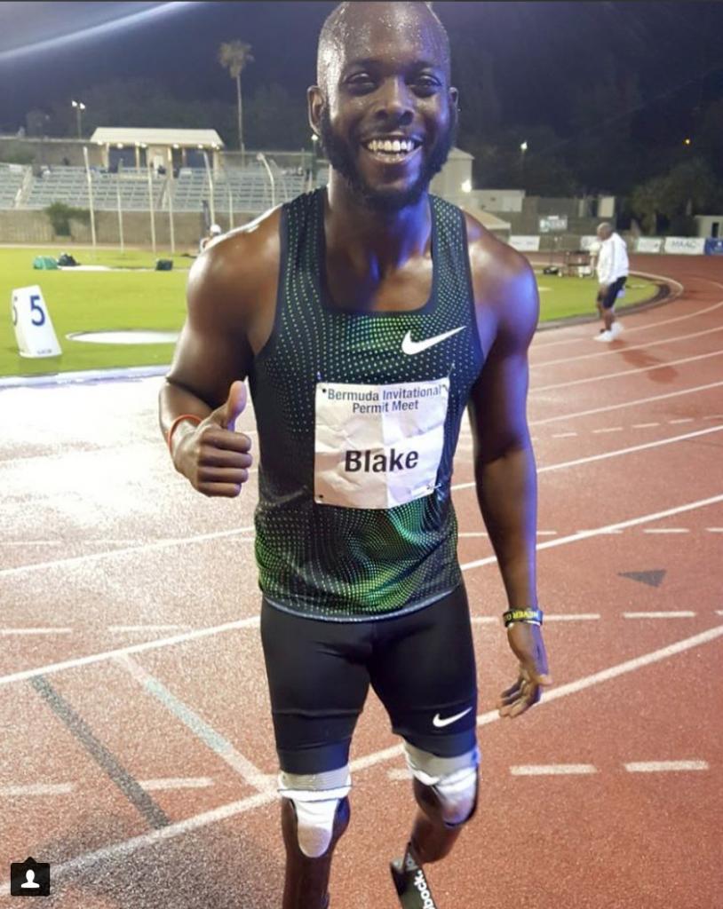 Blake Leeper wins the men's 400m at Bermuda Invitational