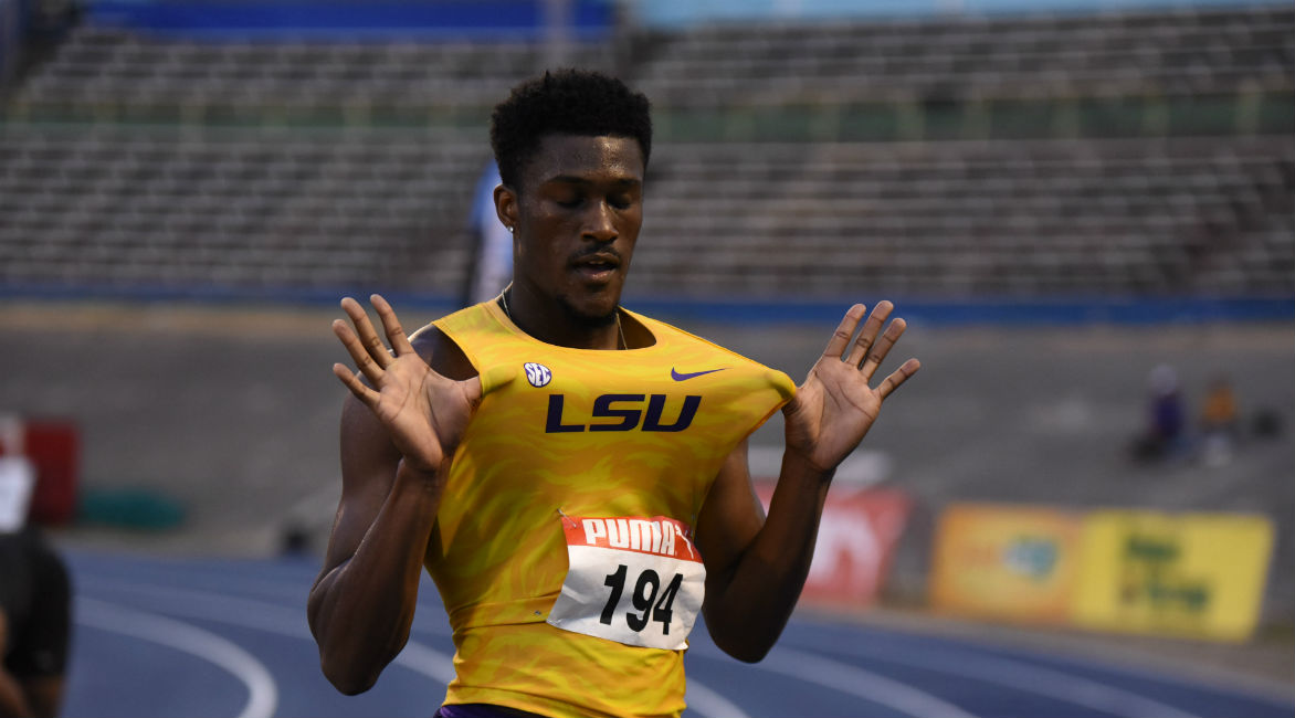 Damion Thomas wins for his LSU team