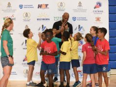 Asafa Powell school visit at Cayman Invitational 2018