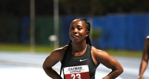Shelly-Ann Fraser-Pryce after running 11.33 at the Cayman Invitational, now ready for JN Racers Grand Prix on June 9, 2018