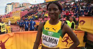 Shiann Salmon wins the women's 400m at the Texas A&M Invitational