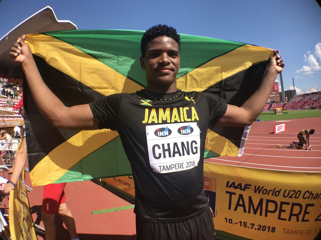 Kai Chang became the second Jamaican behind Fedrick Dacres to win gold at Jamaica at the IAAF World U20 Championships