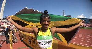 Britany Anderson wins silver at Wold U20 Championships