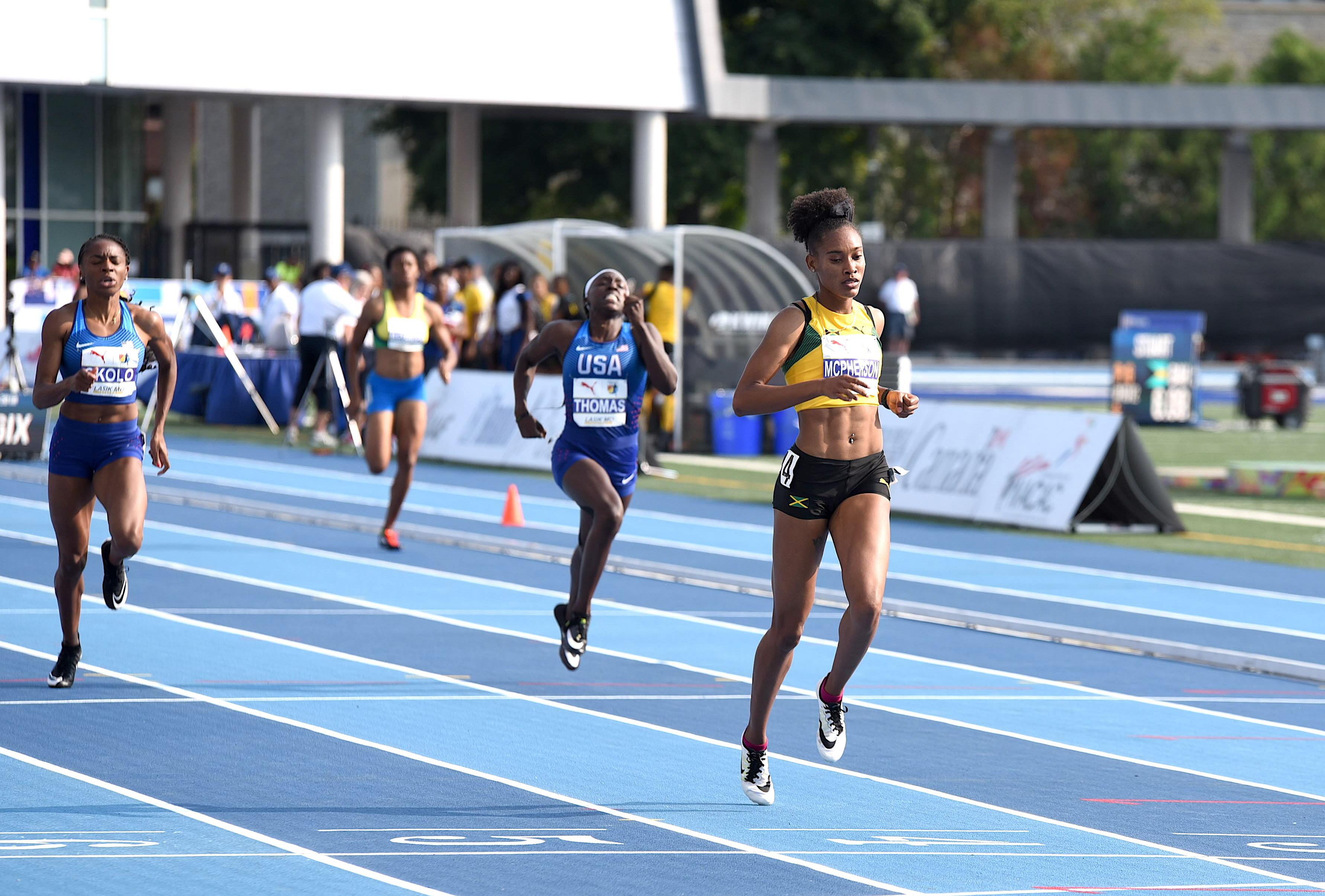 Stephenie-Ann McPherson wins the women's 400m final at NACAC Championships 2018