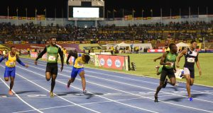 Oblique Seville of Calabar just misses the Class 1 boys' Champs record of 10.12 with his 10.13 run at Champs 2019