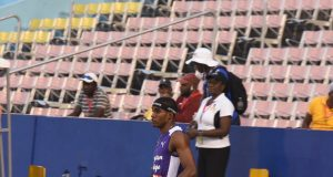 Wayne Pinnock broke the Champs Class 1 boys' long jump record with 8.05m