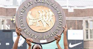 Edwin Allen wins 4x100m at Penn Relays 2019