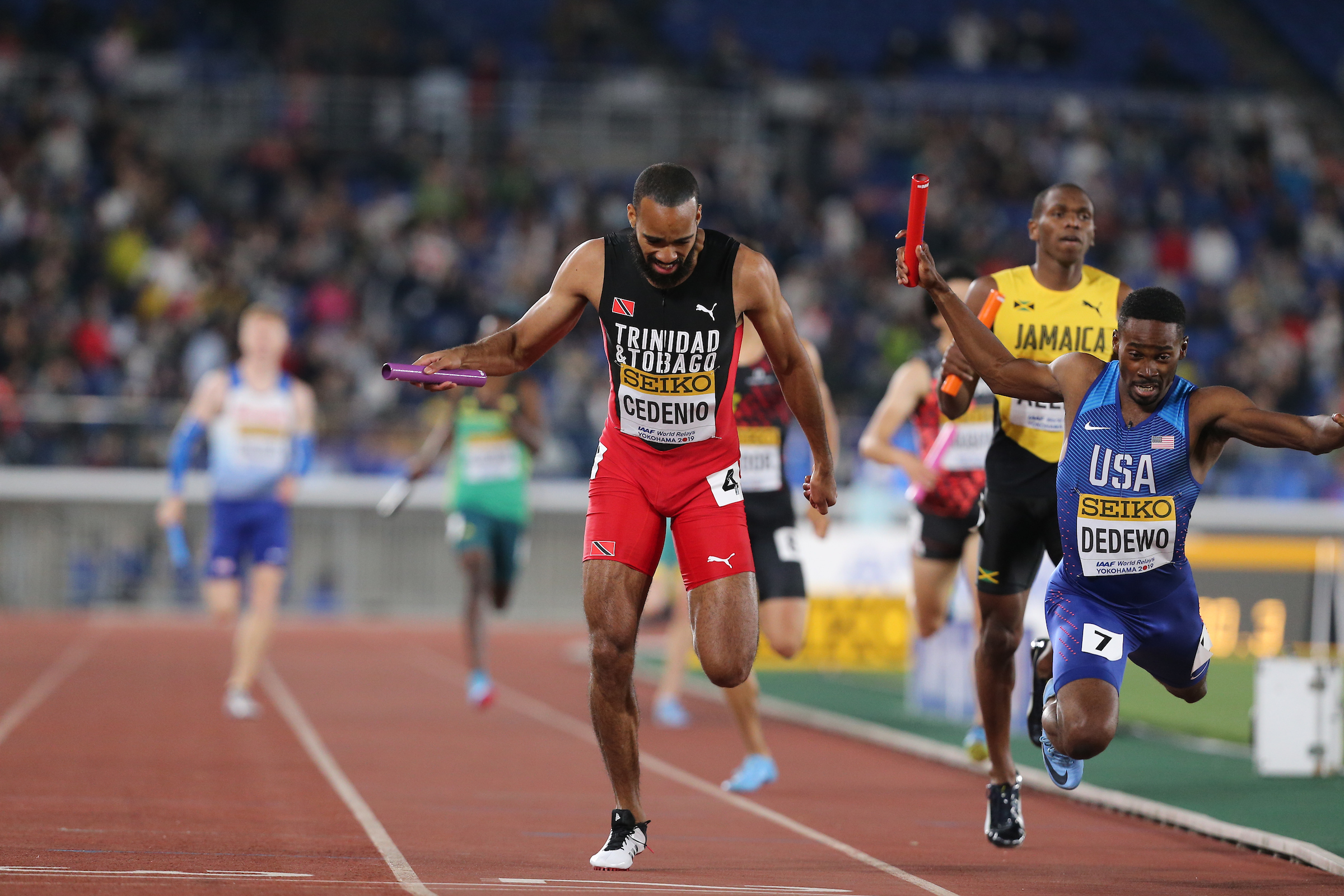 YOKOHAMA, JAPAN - MAY 12: during Day 2 of the 2019 IAAF World Relay Championships at the Nissan Stadium on Sunday May 12, 2019 in Yokohama, Japan. (Photo by Roger Sedres for the IAAF)