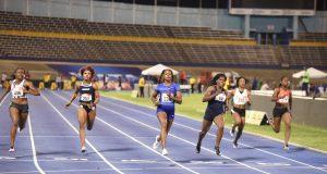 Elaine Thompson wins at the Jamaica 2019 Trials