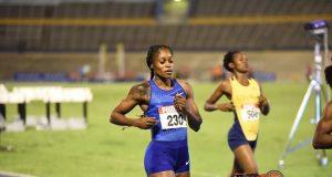 Elaine Thompson in 200m at Jamaica Trials 2019