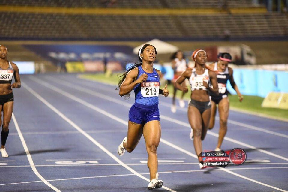 Shelly-Ann Fraser-Pryce 200m at 2019 Jamaica Trials