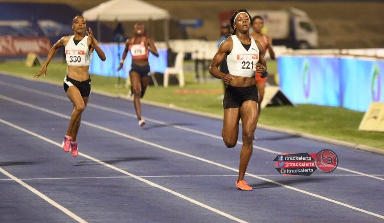 Shericka Jackson wins 400m at the Jamaica Trials