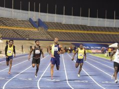 Waseem Williams and Asafa Powell Jamaica Trials