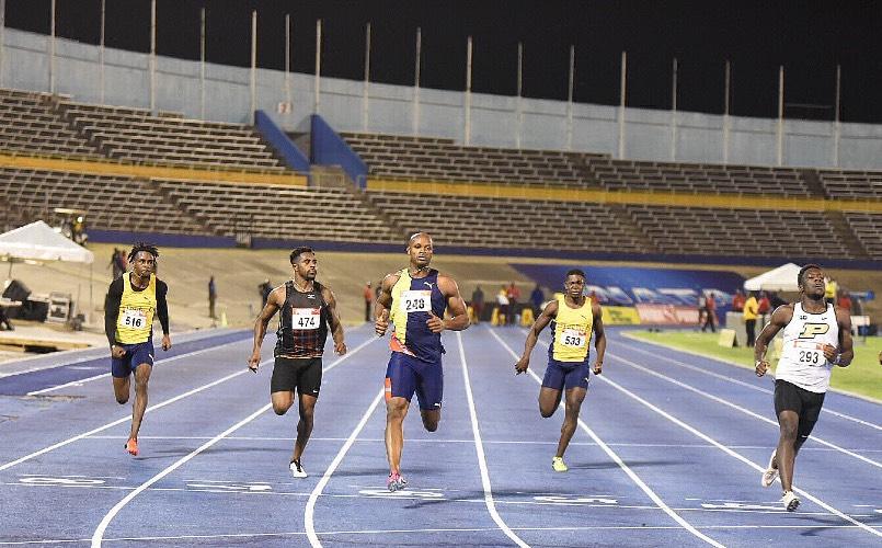 Waseem Williams and Asafa Powell Jamaica Trials