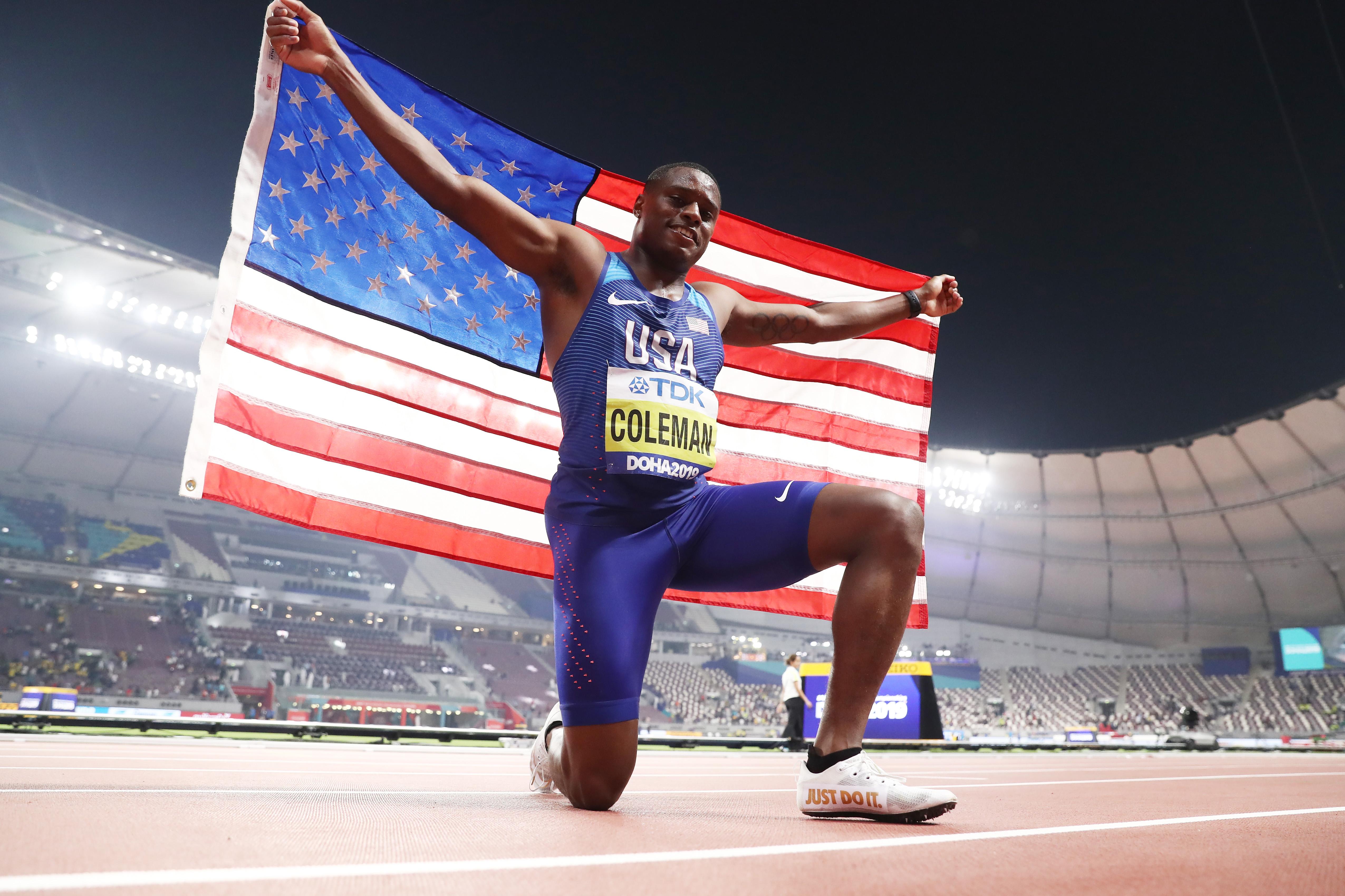 Christian Coleman wins the Doha 2019 World Athletics Championships 100m title