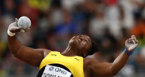 Danniel Thomas-Dodd became the first Jamaican and Pan-American champion to win a women's shot put world championships medal