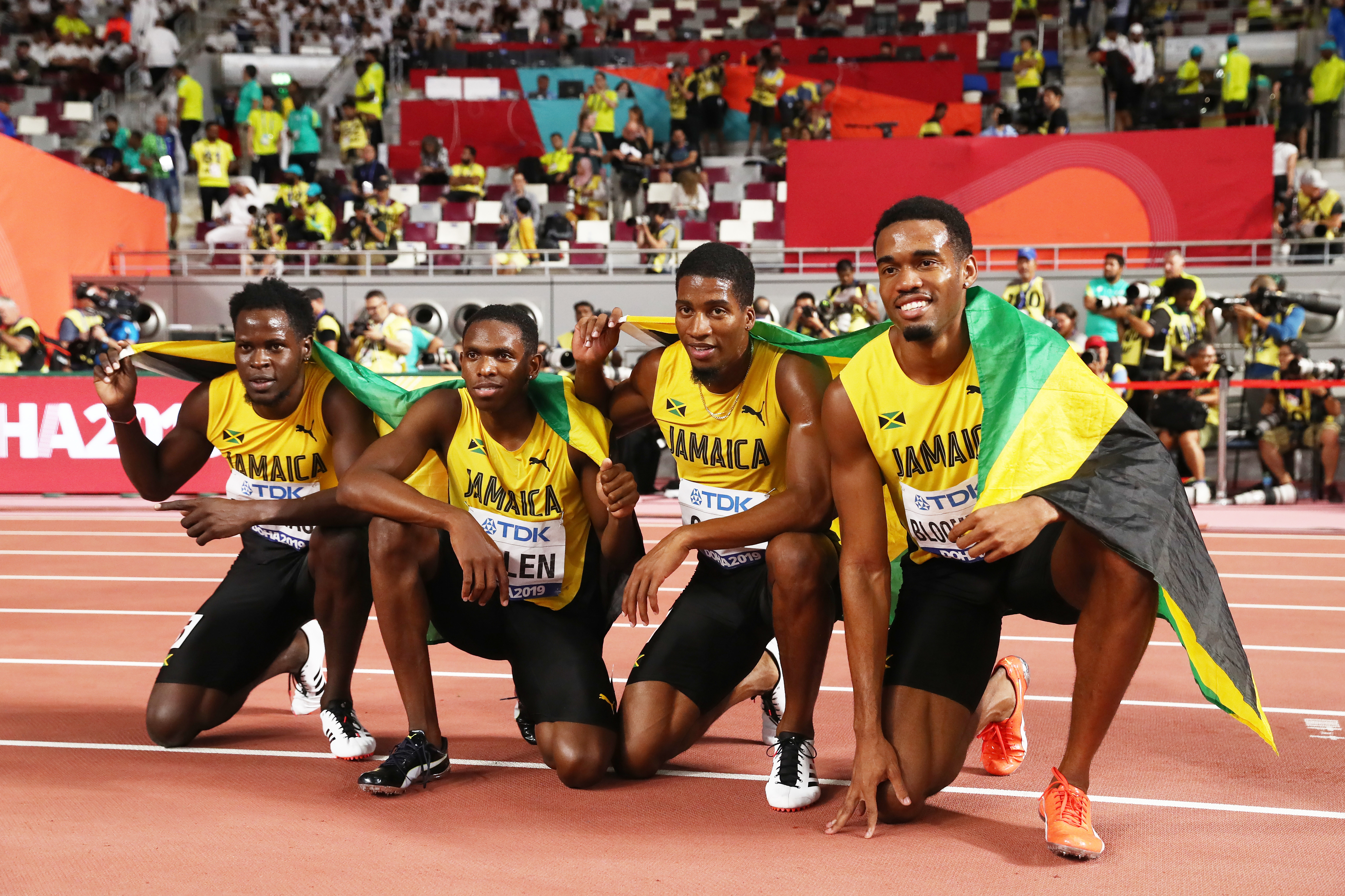 Jamaica 4x400m male team wins silver at Doha 2019