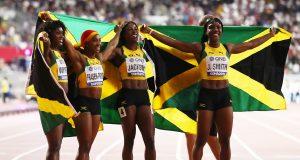 Jamaica women speak about 4x100m success #Doha2019