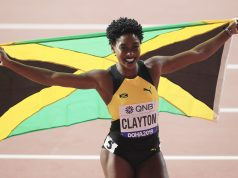 Rushell Clayton celebrates bronze in Doha 2019