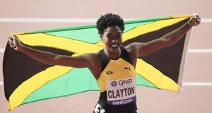 Rushell Clayton celebrates bronze in Doha 2019