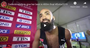 Machel Cedenio ready for Doha 2019 final