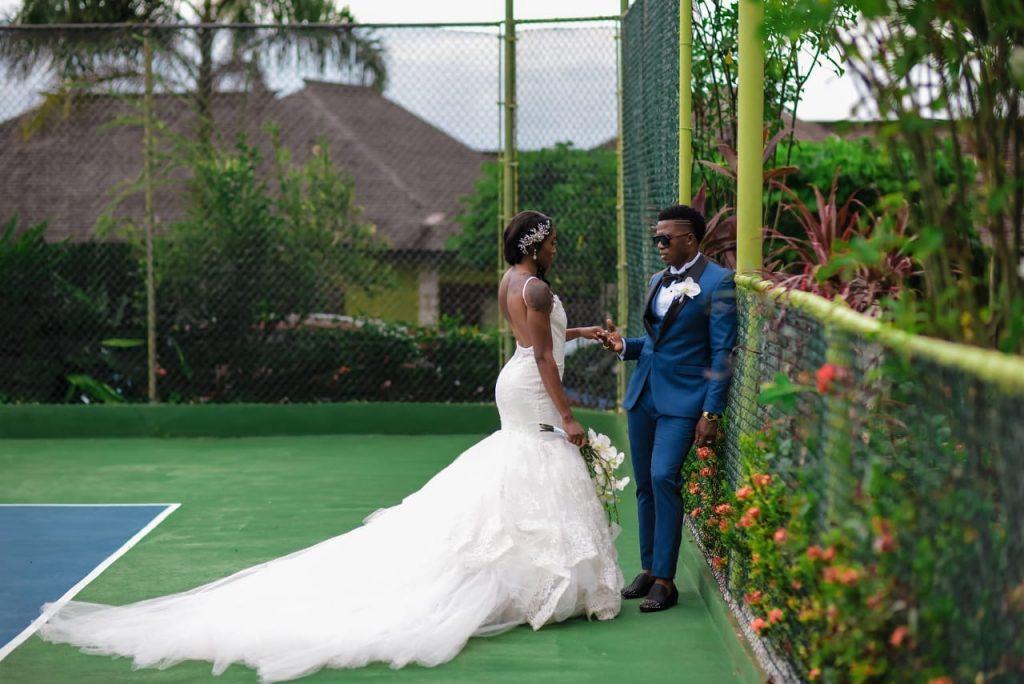 Elaine Thompson and Derron Herah wedding photos
