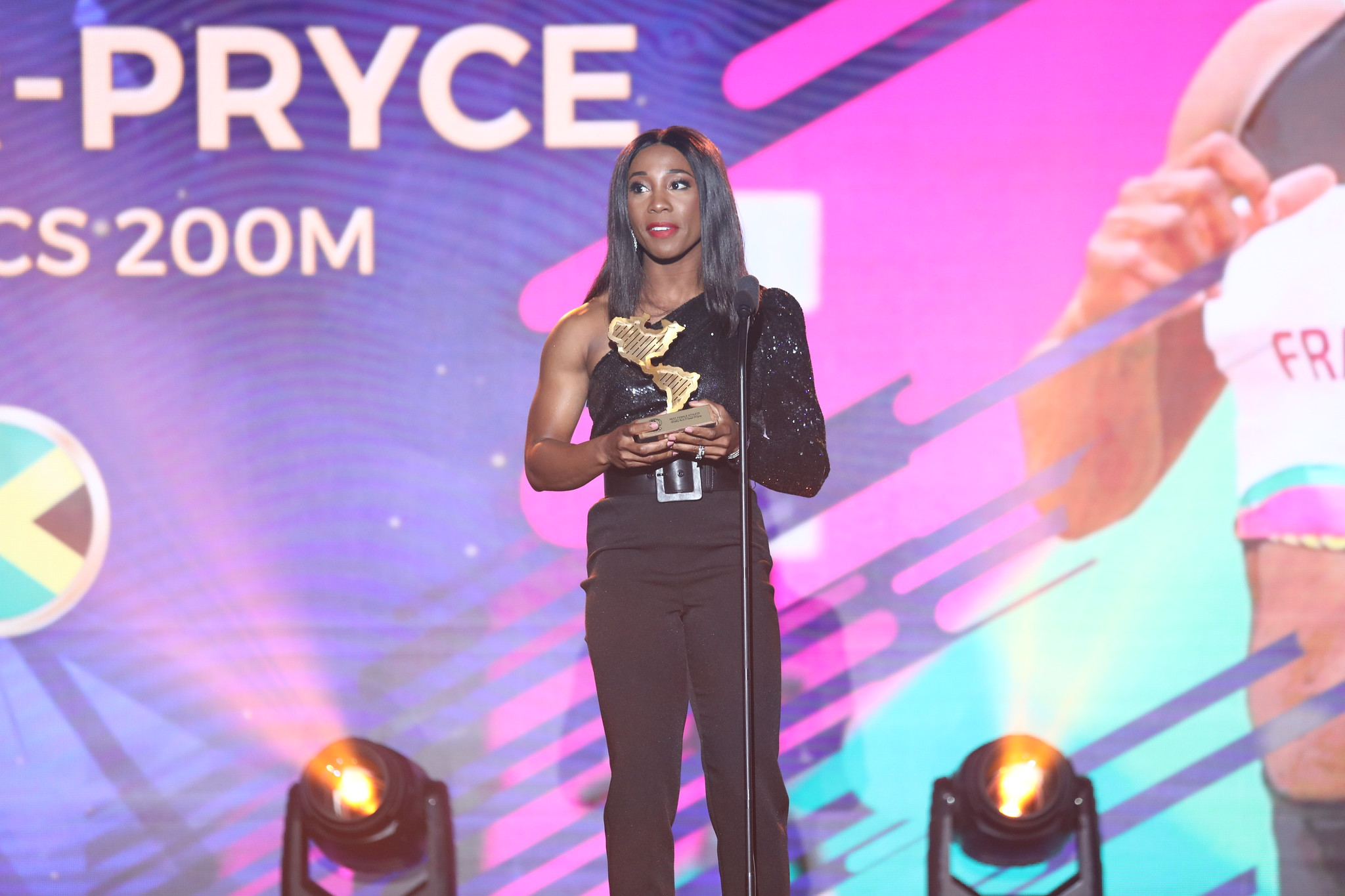 Jamaica's world champion Shelly-Ann Fraser-Pryce was named Panam Sports Best Female Athlete of 2019.