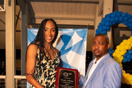 Chantel Malone, the Pan Am Games long jump champion, was named Female Athlete of the Year