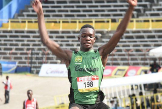 Jordon Turner wins at McKenley-Wint Track & Field Classic held at Calabar High School
