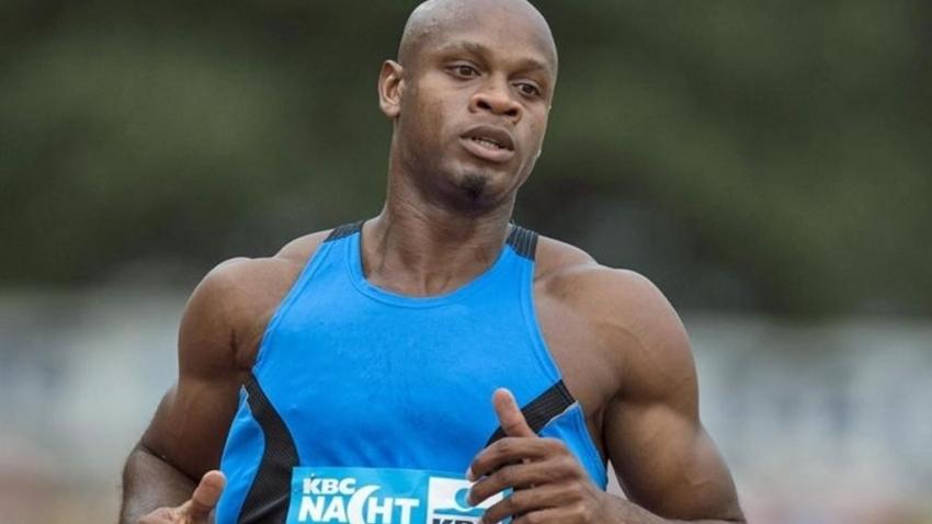 Asafa Powell wins 60m at Milo Western Relays