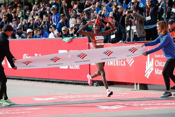 Kosgei, who celebrated her 26th birthday on 20 February, shattered the previous mark at the Bank of America Chicago Marathon on 13 October