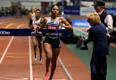 Ajeé Wilson 113th NYRR Millrose Games at The Armory