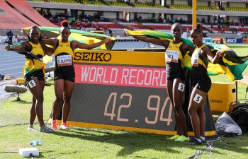 Jamaica's 4x100m sprint relay team of Serena Cole, Tina Clayton, Kerrica Hill and Tia Clayton set a new World U20 record of 42.92 on the final day of the Nairobi 2021 World Athletics U20 Championships