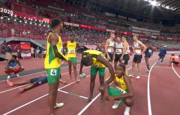 Jamaica men in Tokyo 2020 4x4 final