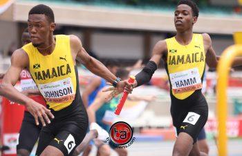 Jamaica 4x400m team at World U20 Championships