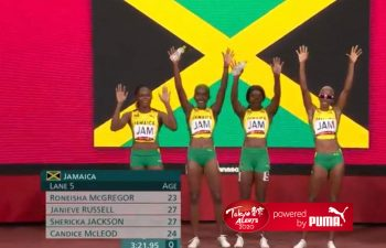 Jamaica win Tokyo 2020 4x4 bronze medal