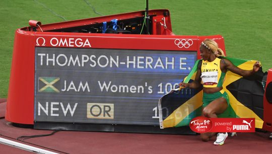Elaine Thompson-Herah wins at Tokyo 2020