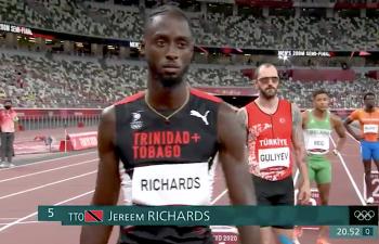 Jereem Richards in Tokyo 2020