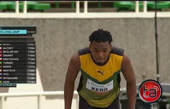 Kavian Kerr won bronze in the men's long jump at the World Athletics U20 Championships in Nairobi, Kenya