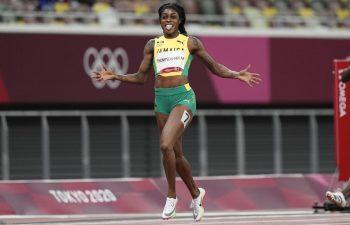 Elaine Thompson-Herah blazes to historic double-double at Tokyo 2020