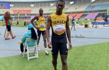 Bryan Levell advance in 200m at World Athletics U20 Championships