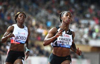Shelly-Ann Fraser-Pryce turned the tables on Olympic Games champion Elaine Thompson-Herah in Lausanne... Shericka Jackson at Kamila Skolimowska Memorial
