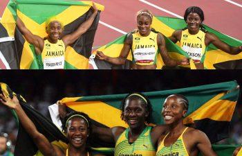 Jamaica short sprint Beijing 2008 and Tokyo 2020 100m sweep