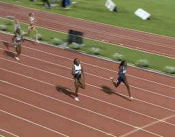Shericka Jackson loses final race to Mboma